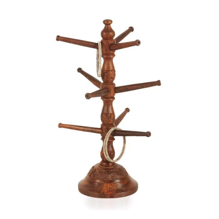 OnlineShoppee Wooden Handicraft Wooden Bangle Stand