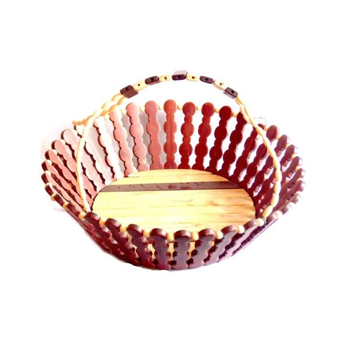 Onlineshoppee Wooden Flower  and Fruit Basket
