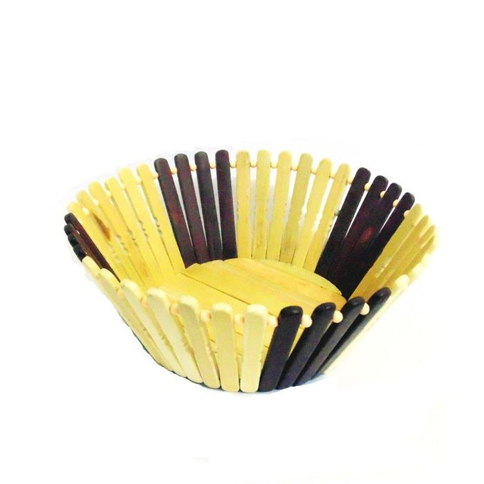 Onlineshoppee Wooden Flower  and Fruit Basket Buy 1 Get 1 Free