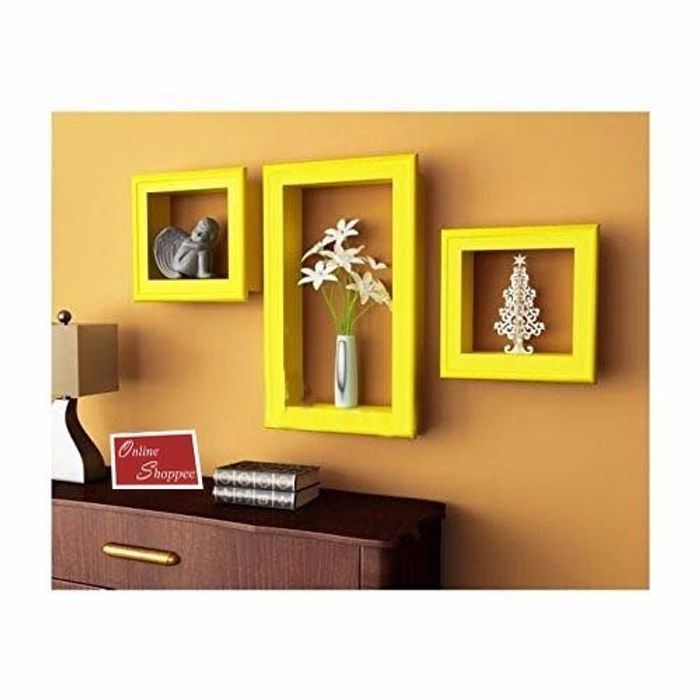 Onlineshoppee Beautiful Wooden Fancy Wall Decor Rack Shelves Size ...