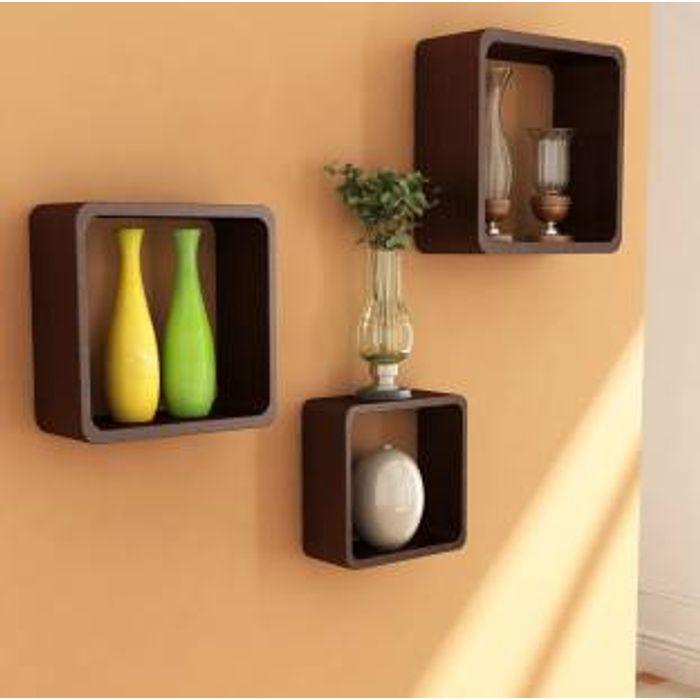 Online Fancy Handicraft Cube Design Wall Decor Mdf Shelf