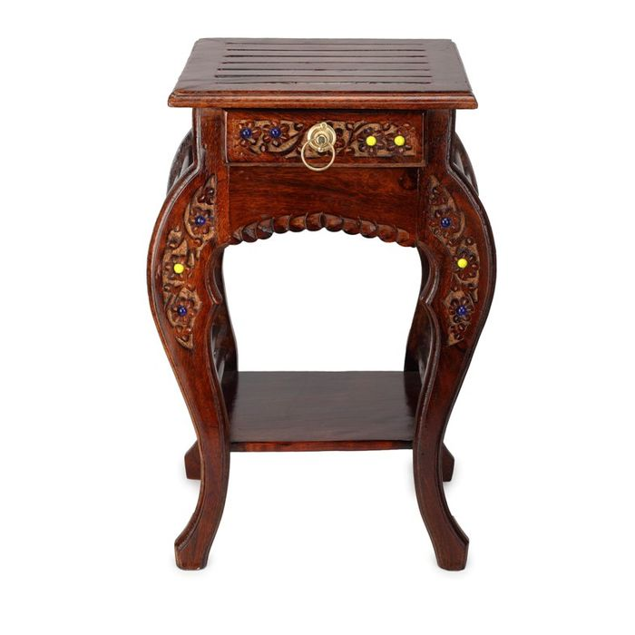 Wooden Hand Carved Side Table Stools Buy Furniture  : AFR304 from www.onlineshoppee.in size 700 x 700 jpeg 37kB