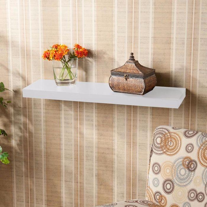 Onlineshoppee Floating Wall Shelf 30 Inches (White)