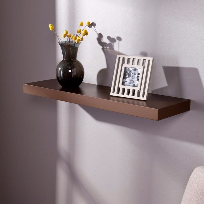 Onlineshoppee Floating Wall Shelf 30 Inches (Brown)