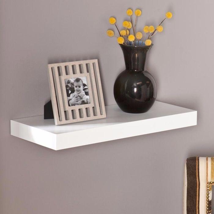 Onlineshoppee Floating Wall Shelf 24 Inches (White)