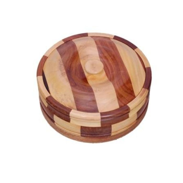 Onlineshoppee Beautiful Wooden Antique Handcrafted Chapati Box