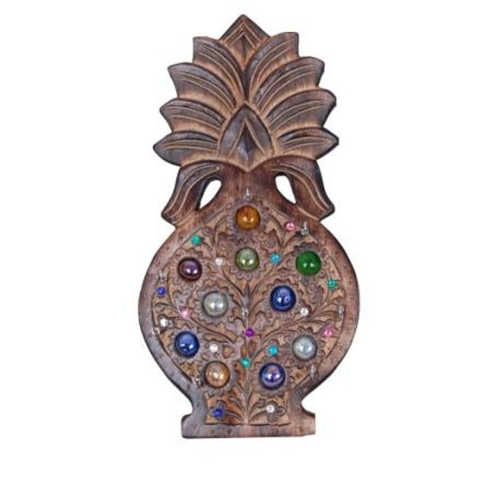 Onlineshoppee  Wooden Pineapple Design Key Holder 10 inch