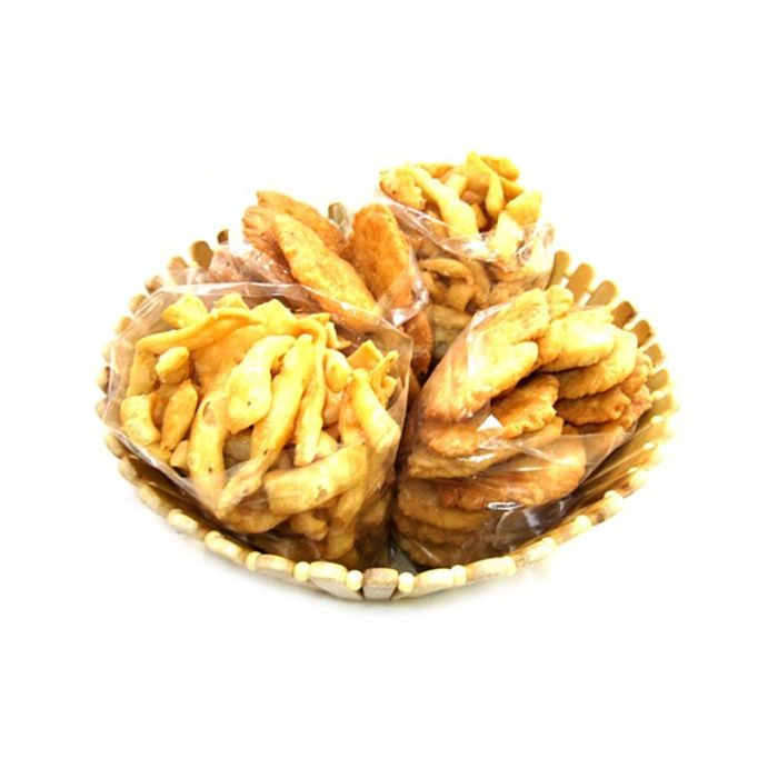 Onlineshoppee Wooden Holi Special Snacks and Fruit Basket