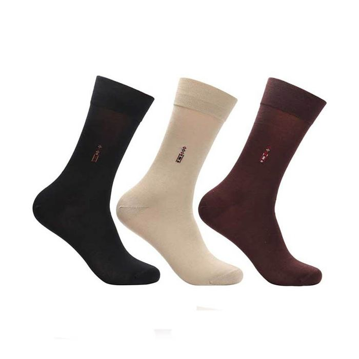 Onlineshoppee Multi Formal Full Length Socks Men 3 Pair Pack