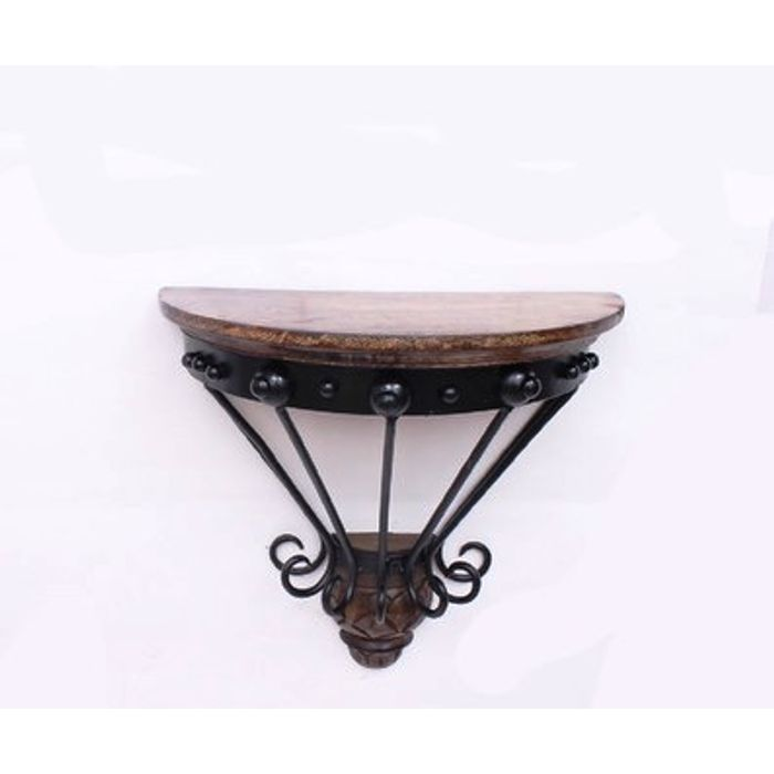 Wooden & Wrought Iron Wall Bracket Size ( 11X5.5X10.5)  inch