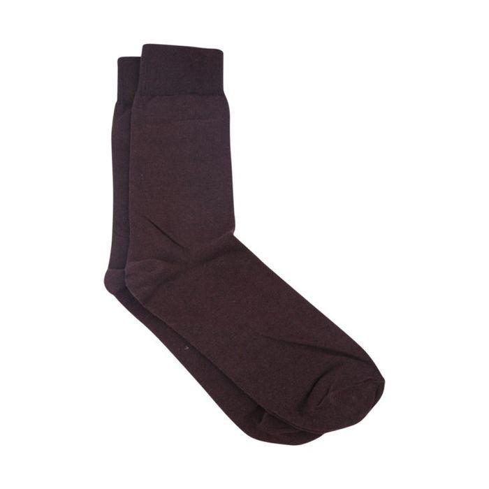 Onlineshoppee Premium Design Brown Cotton Full Length Socks For Men (Pack Of 6)