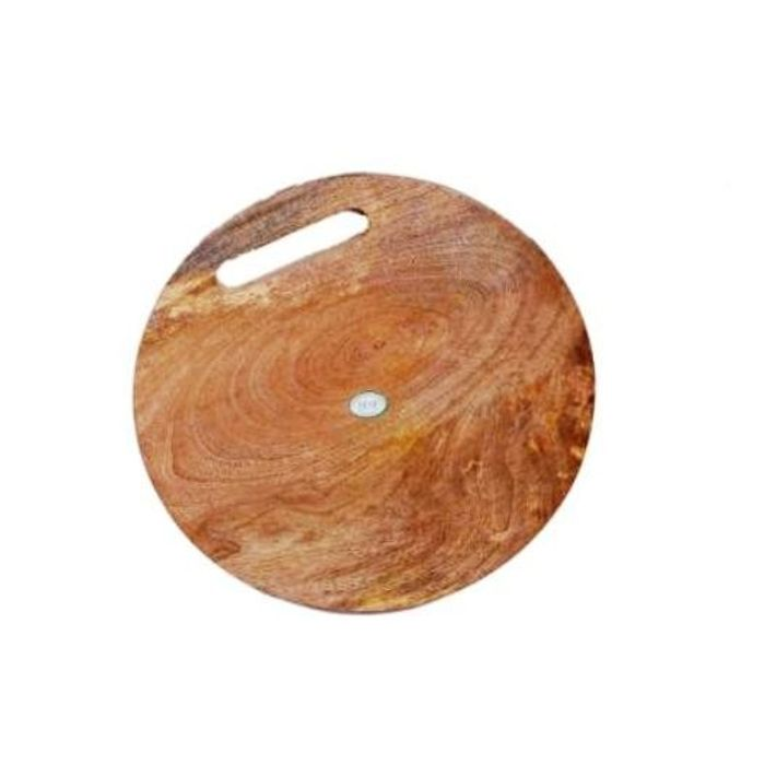 Onlineshoppee Wooden Round Kitchen Chopping Board in Best Quality Wood