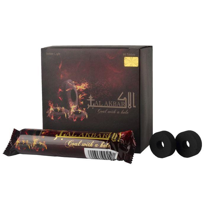 Al Akbar Flavour Hookah Instant Light Coal Pack Of 80 Tablets