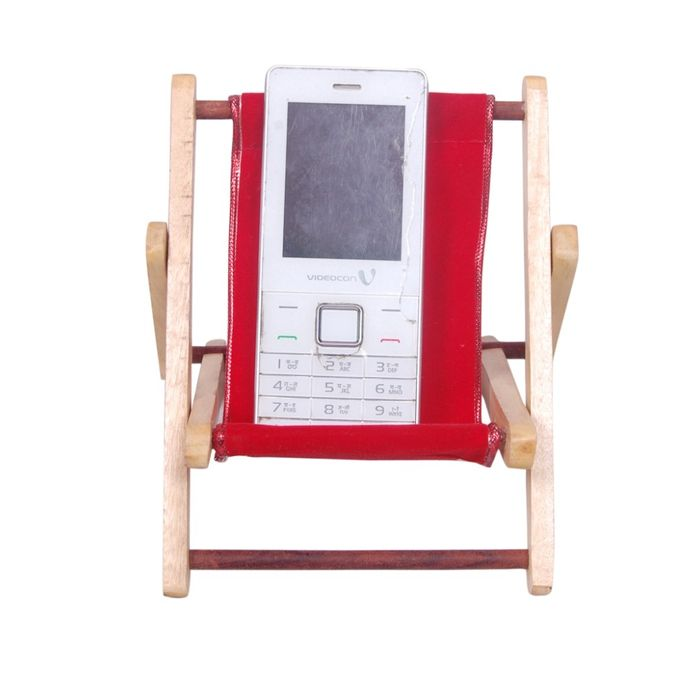 Antique Wooden Folding Chair Design Mobile Stand With Hand Carved Design Size (lxbxh-5.5x.5x7) Inch