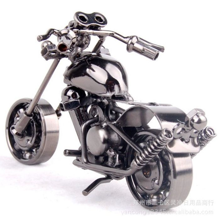 Handmade Iron Motorcycle Home Decor gift decoration BK1