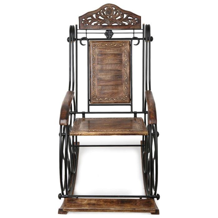 Wooden & Iron Rocking Chair