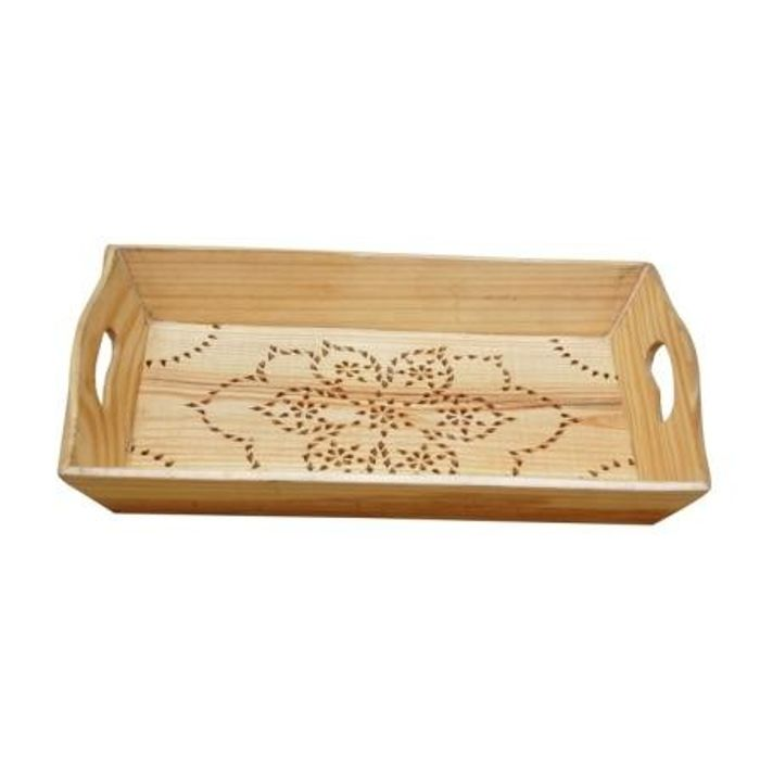 Wooden Serving Tray - Yellow
