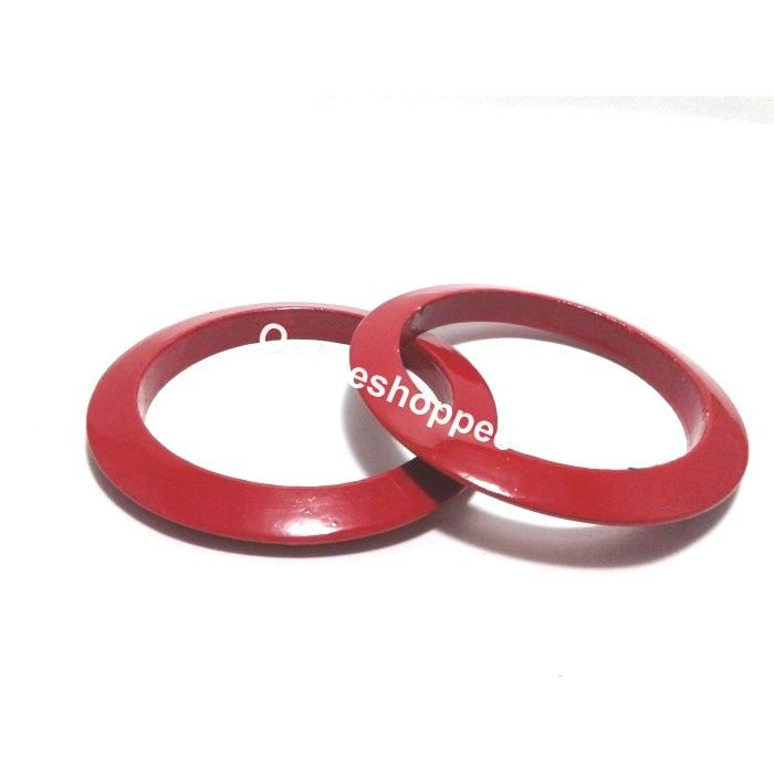 Wooden Bangles - Red