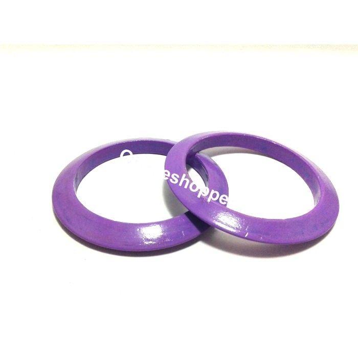Wooden Bangles - Purple
