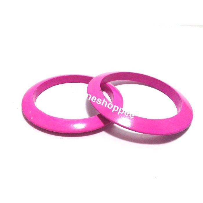 Wooden Bangles - Pink