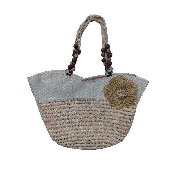 Yellow Handbags With Beads Handle