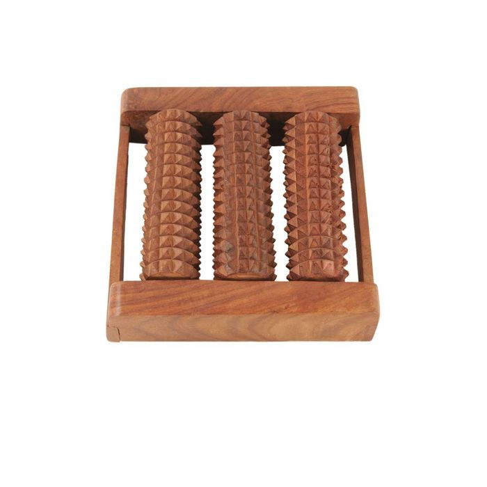Wooden Roller Foot Massager