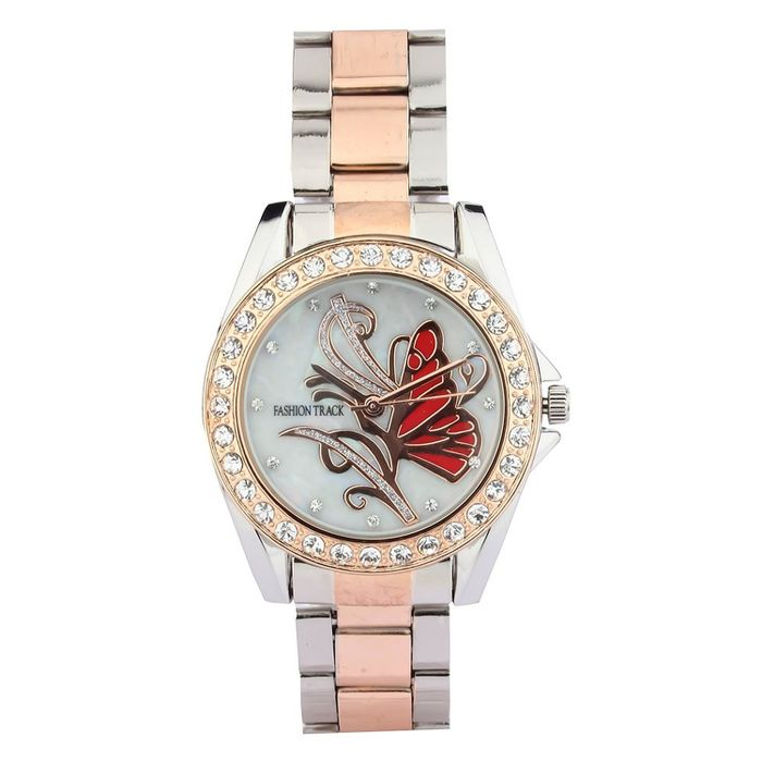 Optima FT-8172-01-LDTT Fashion Track Analog Watch - For Girls