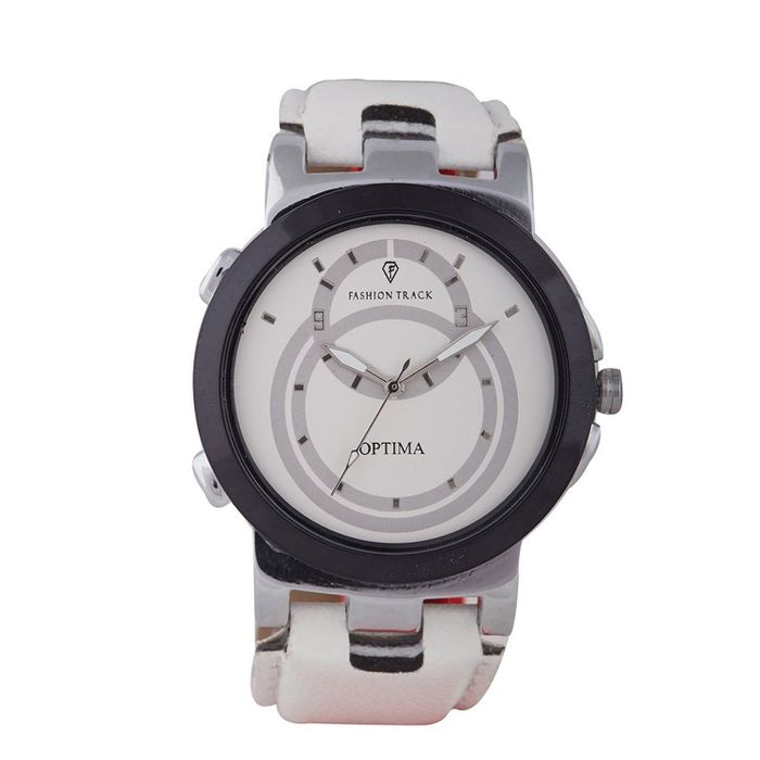 Optima Analog White Dial Men's Watch - FT-ANL-2514