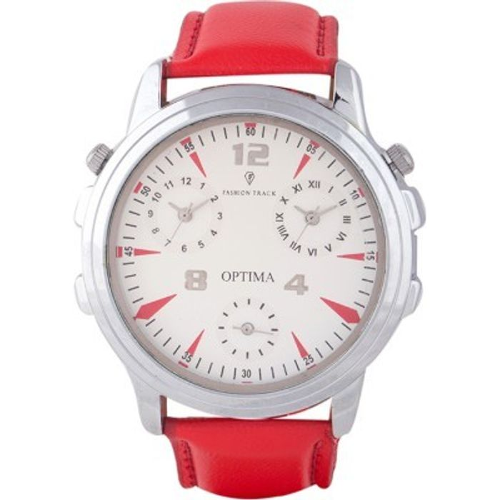 Optima FT-ANL-2526 Fashion Track Analog Watch - For Men