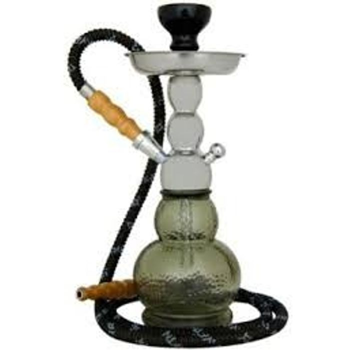 Onlineshoppee Mya Gelato Imported 14 inch Glass Hookah With Tong,Coal Pack And Flavor