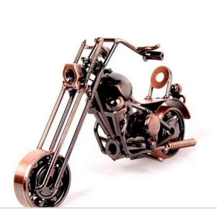Onlineshoppee Miniature Showpiece Figurine Handmade Metal Motorcycle