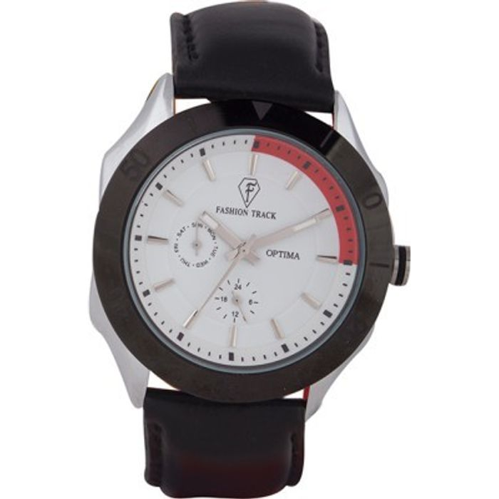 Optima OFT-2435 WHITE  Fashion Track Analog Watch - For Men