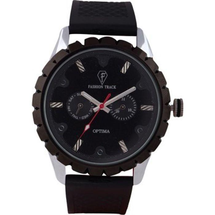 Optima OFT-2436 BLACK Fashion Track Analog Watch - For Men