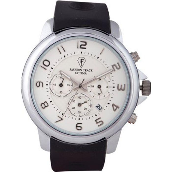 Optima OFT-2437 WHITE Fashion Track Analog Watch - For Men