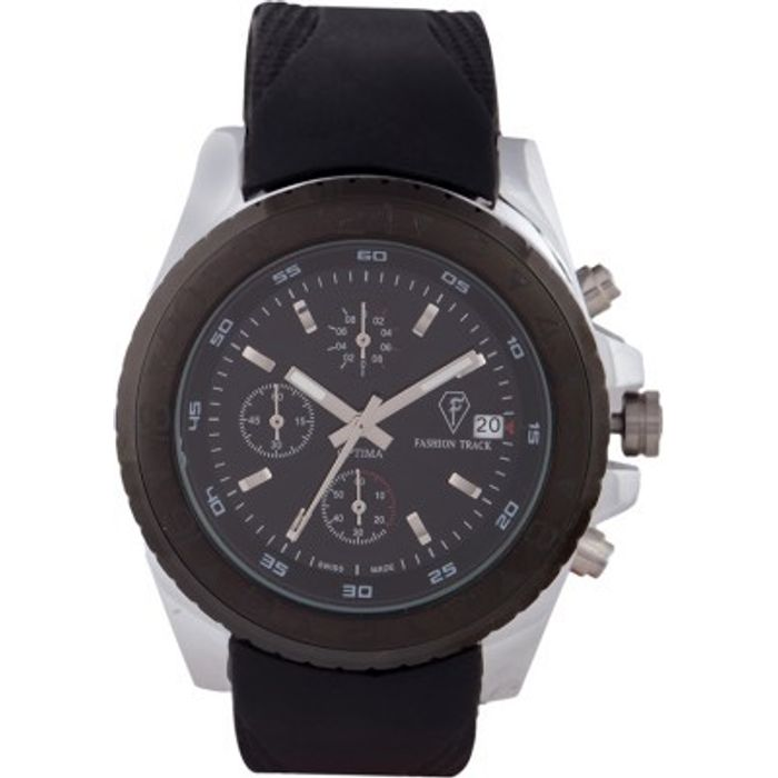 Optima OFT-2440-BLACK Fashion Track Analog Watch - For Men
