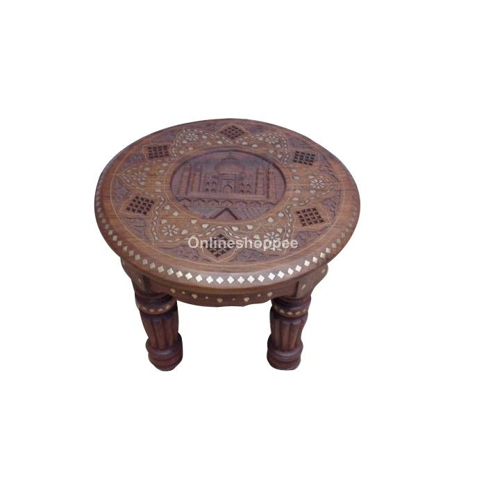 Round Taj Mahal Design Table