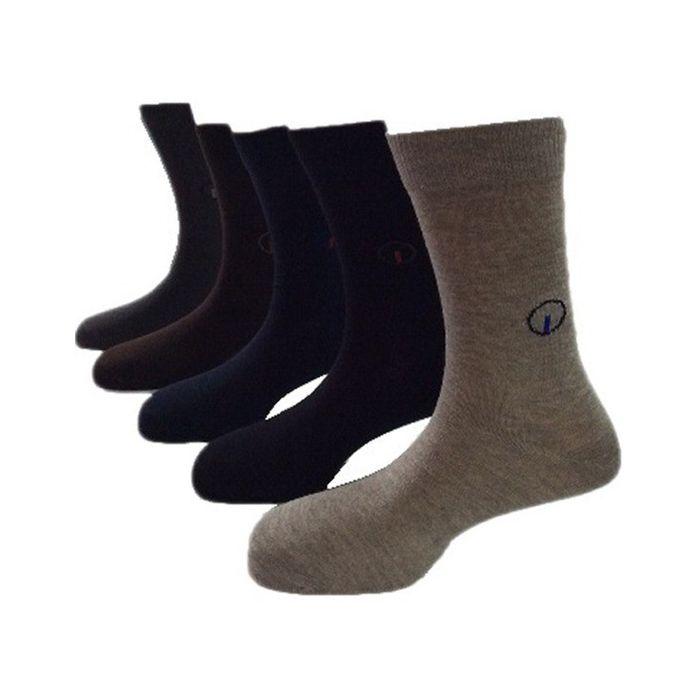 Onlineshoppee Multicolor Cotton Men's Full Length Socks 5 Pair Pack