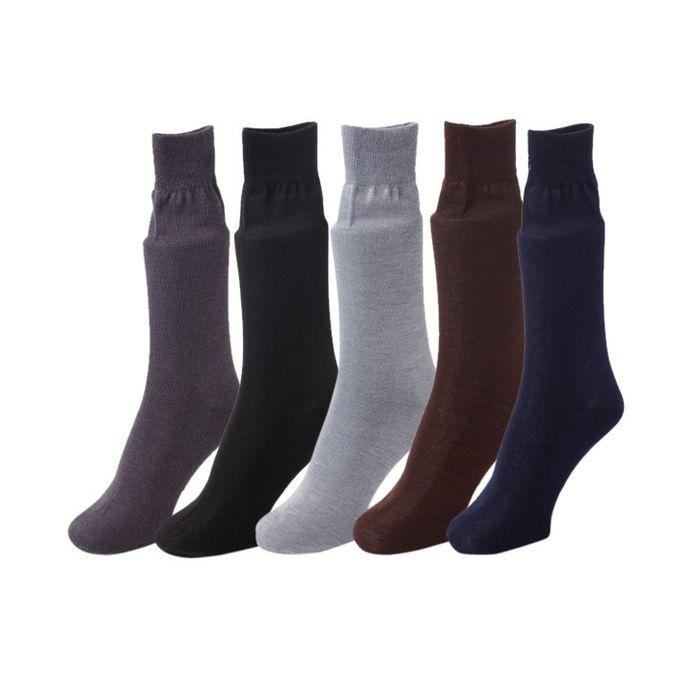 Onlineshoppee Multi Formal Comfortable  Socks - 5 Pair Pack