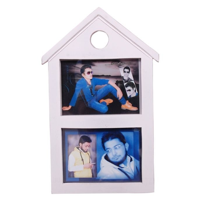 Onlineshoppee Wooden and Antique  Photo Frame  Color-White