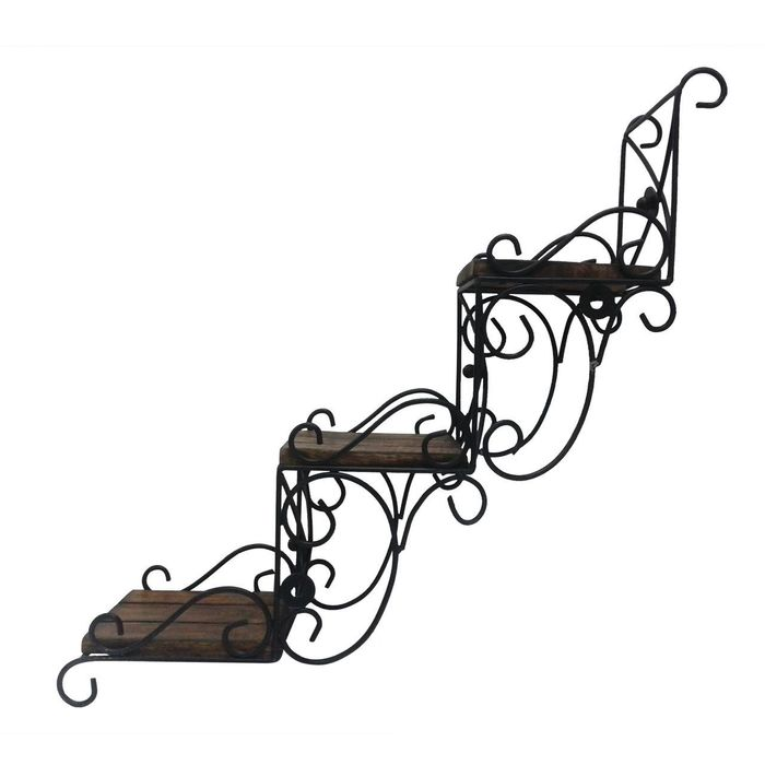 Onlineshoppee Wooden Wall Hanging Shelve/ Shelf for Decoration. A unique Wall Art in stair Shape. You can use this as decoative piece without hanging Size(LxBxH-16.5x5.5x16.5) Inch