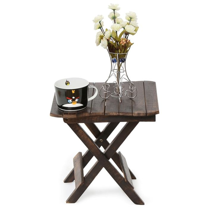 Onlineshoppee Wooden Deautiful Design Folding Table For Living Room Size(LxBxH-12x12x12) Inch