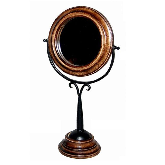 Onlineshoppee Antique Fancy Design Wooden Mirror Frame Size(LxBxH-9x5x17) Inch