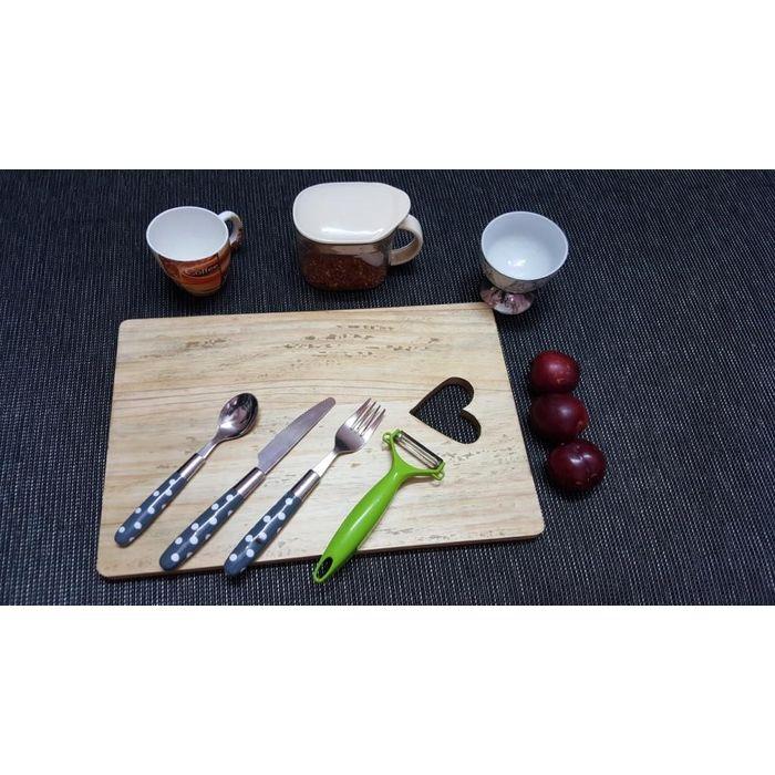 Onlineshoppee Pine  Wood Best Quality Fancy Design Kitchen Chopping Board  Size(LxBxH-15x10x1) Inch