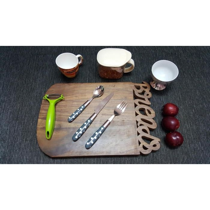 Onlineshoppee Sheesam  Wood Best Quality Beautiful Design Kitchen Chopping Board  Size(LxBxH-15x10x1) Inch