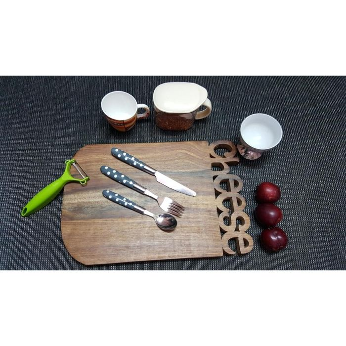 Onlineshoppee Sheesam  Wood Best Quality Handmade Design Kitchen Chopping Board  Size(LxBxH-15x10x1) Inch
