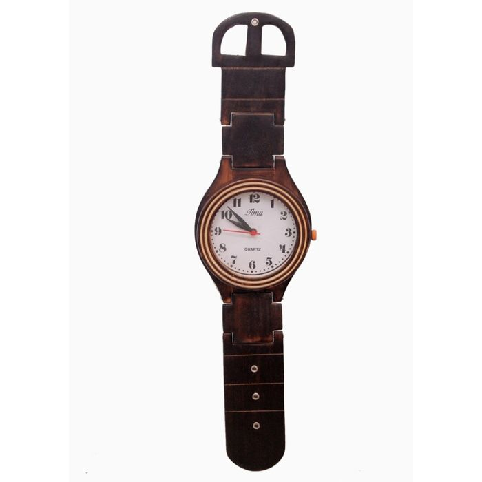 Onlineshoppee Wooden Wall Hanging Patta Ghari(Clock)