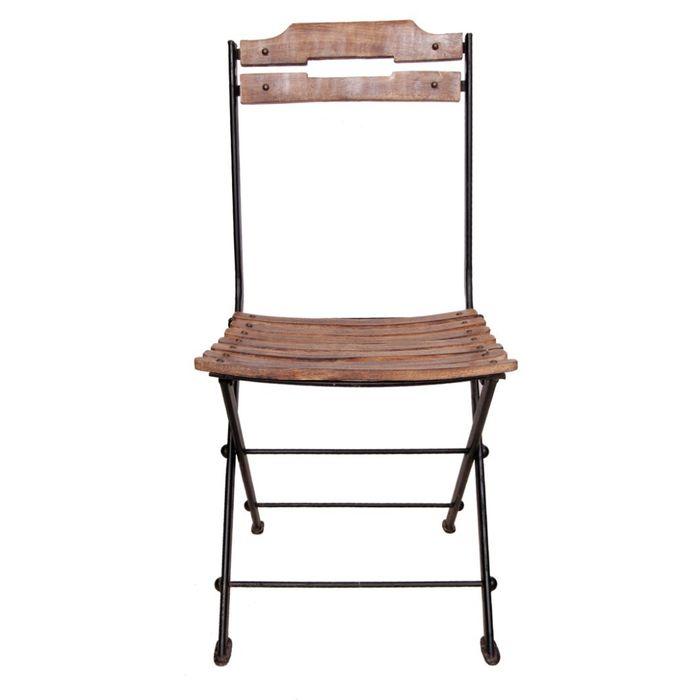 Onlineshoppee Beautiful Design Wooden & Wrought Iron Chair