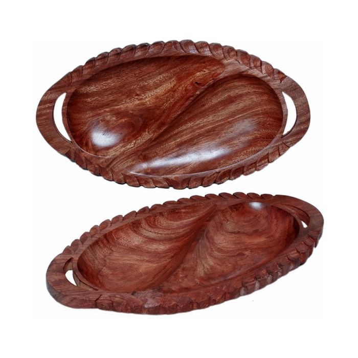 Onlineshoppee Dry Fruit Tray  Home Decor Kitchen Dinning Table Serving Fruit Tray Set Of 2