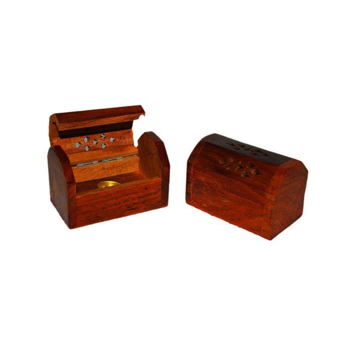 Onlineshoppee Set Of 2 Wooden Handicraft Agarbatti Incense Stick Dhoop Batti Box/cas/stand/holder