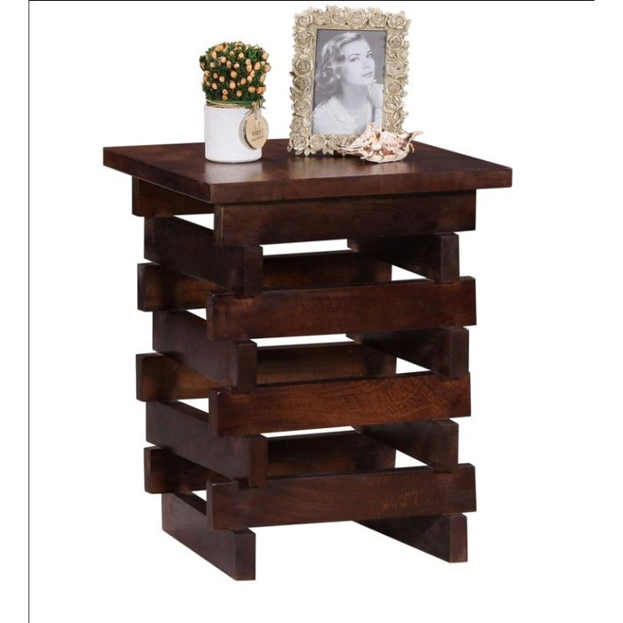 Onlineshoppee Wooden Living Room cum End Table Size(LxBxH-12x12x18) Inch